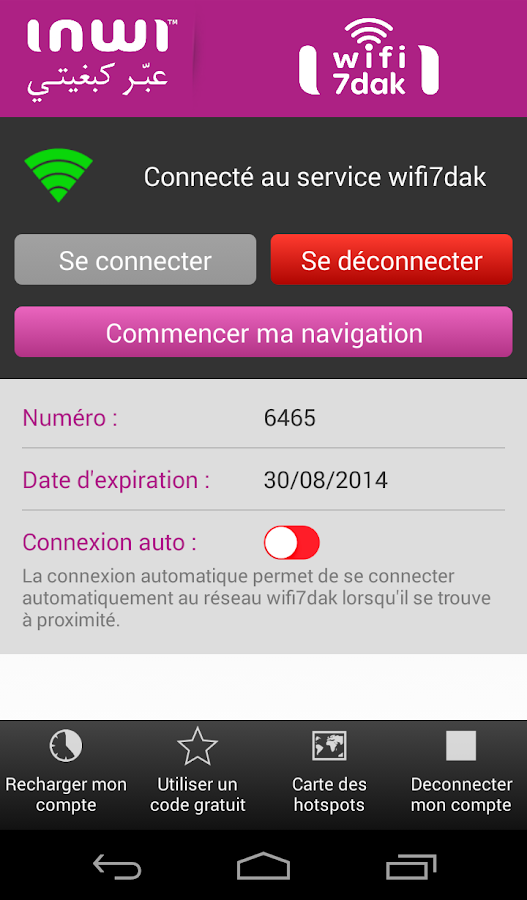 WiFi  7dak – inwi- screenshot