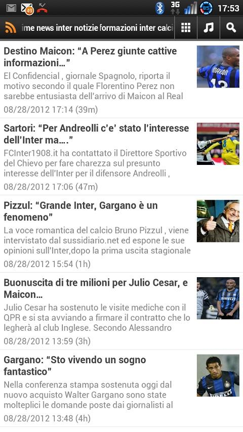 Inter News - screenshot