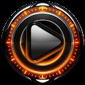 Poweramp skin Orange Magic icon