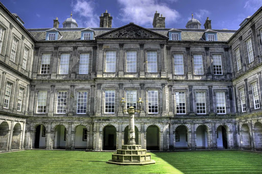 Holyrood Palace in Edinburgh, Scotland.