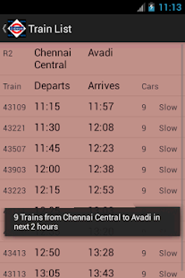 Chennai Local Train Timetable - screenshot thumbnail