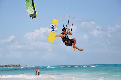Ever want to try kiteboarding? It's a new extreme sport that combines windsurfing, paragliding and wakeboarding.
