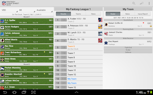 NFL Fantasy Cheat Sheet HD - screenshot thumbnail