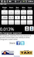 Screenshot of R-U-Buzzed? BAC Calculator