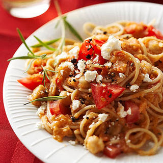 Pasta with Garbanzo Beans.