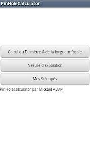 PinholeCalculator- screenshot thumbnail