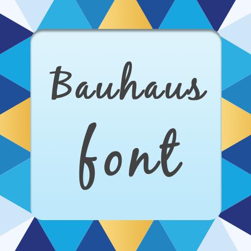 Bauhaus font 個人化 App LOGO-APP試玩