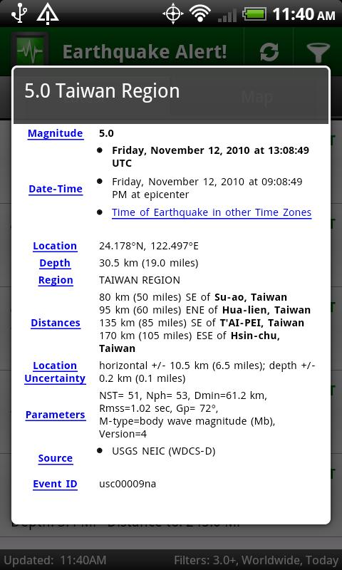 Earthquake Alert! - screenshot