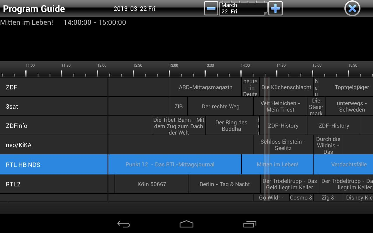 TVCenter for Android- screenshot
