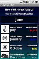 Screenshot of Best Weather For Travel