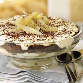 Christmas Pear & Chocolate Tiramisu Trifle Recipe