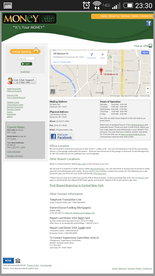 MONEY Federal Credit Union- screenshot