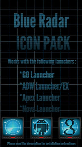 Blue Radar - Icon Pack