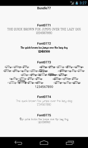 Fonts for FlipFont 77