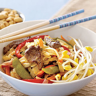 Rice Noodles with Beef.