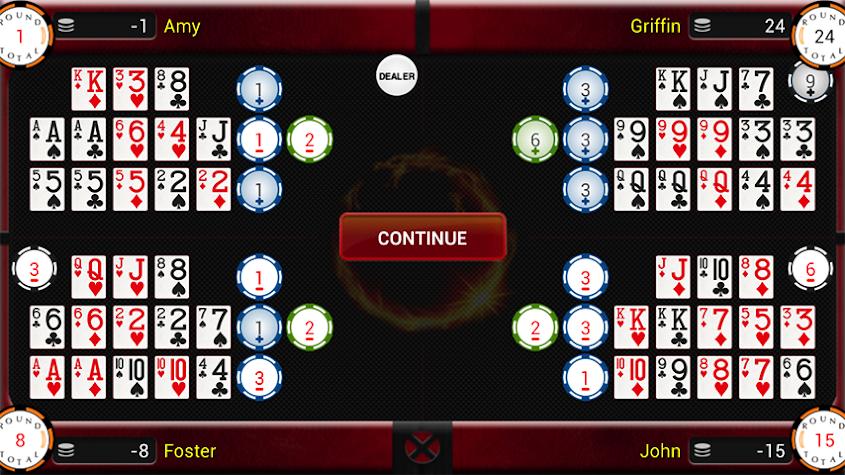 Chinese Open Face Poker Screenshot