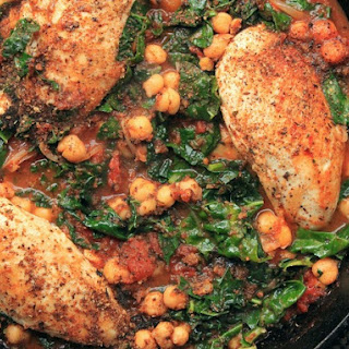 Chicken in Tomato Sauce With Chickpeas and Kale