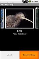 Screenshot of NZ Bird Gallery