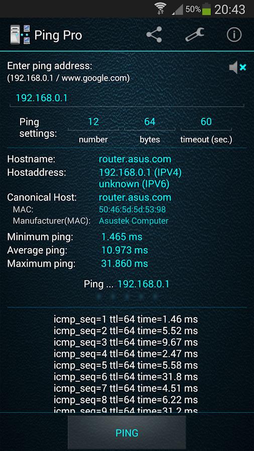 ping www google com qué utiliza los datos de internet