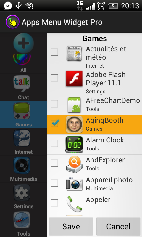 Apps Menu Widget Free - screenshot