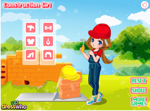 Dressup Construction Girl Game