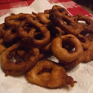 Fluffy Battered Onion Rings.