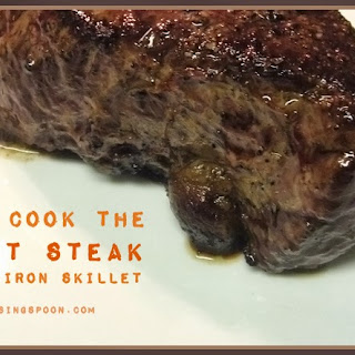Cast-Iron Seared & Baked Grass-Fed Steaks.
