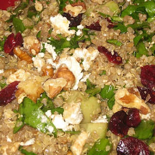 Quinoa Salad with Dried Cranberries and Feta.