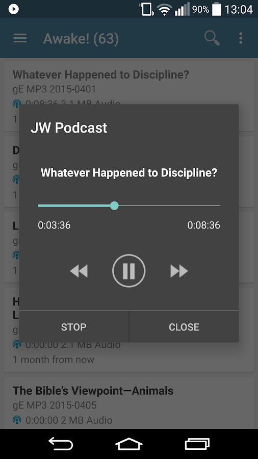 JW Podcast (english) - screenshot