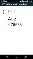Screenshot of Nth root calculator