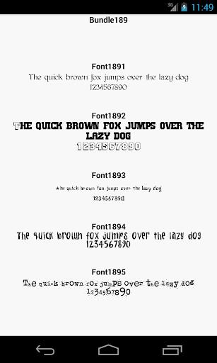 Fonts for FlipFont 189