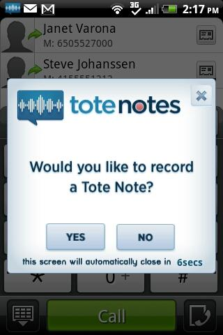 Tote Notes- screenshot