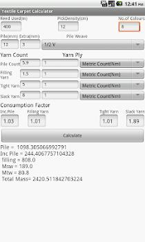 Textile Carpet Calculator