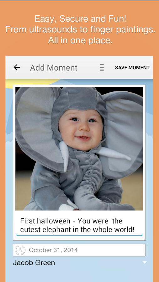 Moment Garden  Baby Photo Book - screenshot