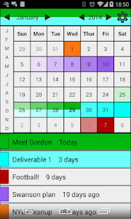 Deadlines Calendar Free - screenshot thumbnail