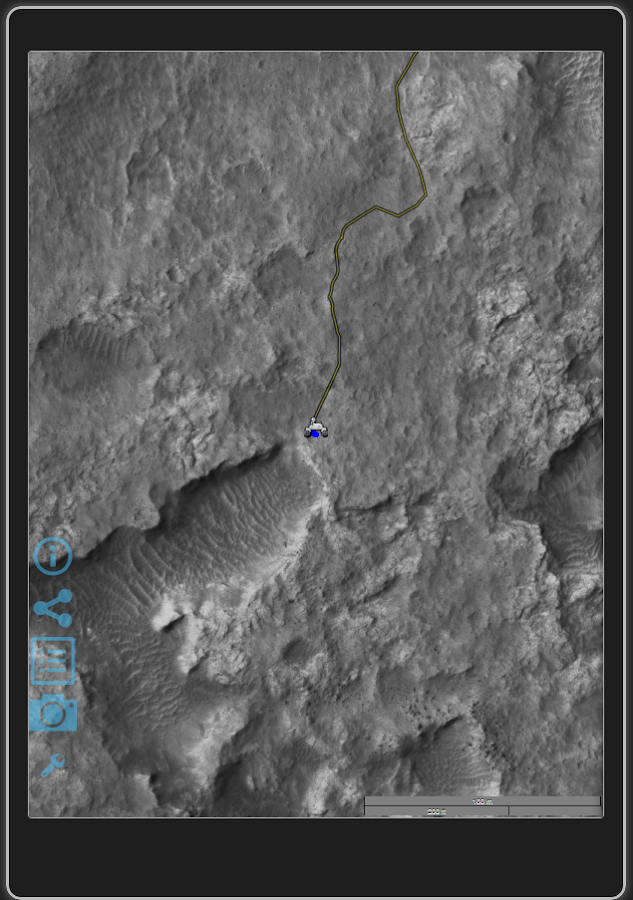 Curiosity Rover track map- screenshot