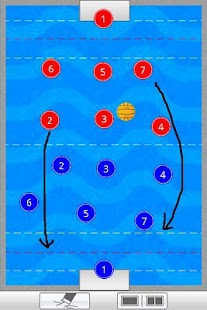 Water polo coach's clipboard - screenshot thumbnail