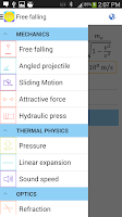 Screenshot of Physics Formulas Free