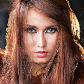 Look at My eyes by Kiki Achadiat - People Portraits of Women
