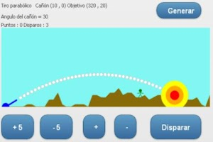 Screenshot of Parabolic shot