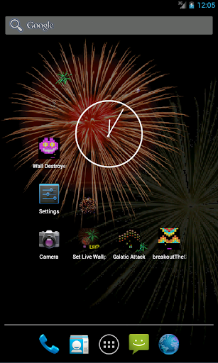 LWP Fireworks Live Wall Paper