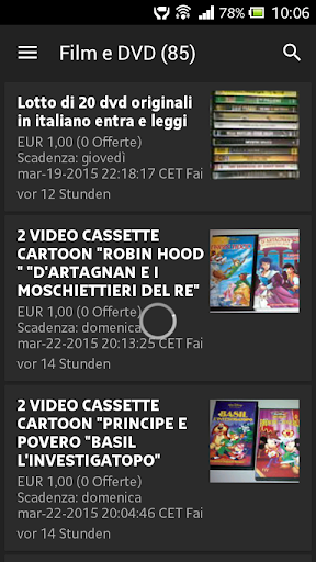 1€ Auctions on Ebay Italia