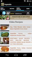 Screenshot of Vegetable Recipes