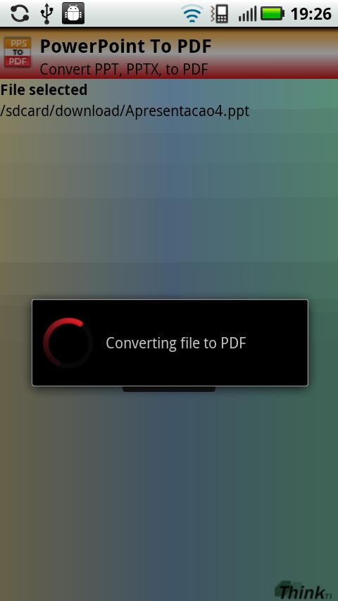 PowerPoint to PDF (PPT, PPTX)- screenshot