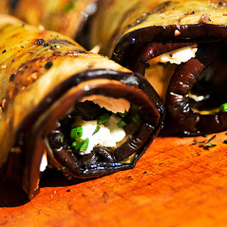 Eggplant and Goat Cheese Spirals