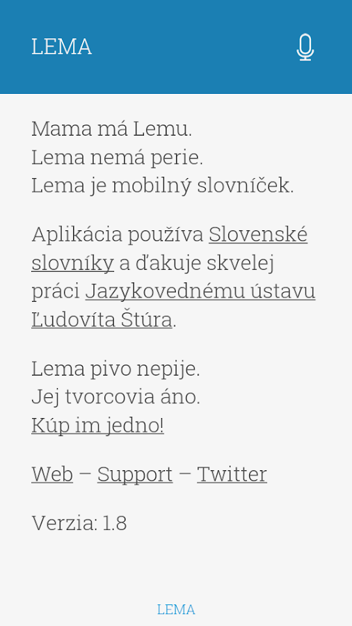 LEMA - screenshot