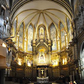 Montserrat by Jamie Tambor - Buildings & Architecture Places of Worship ( church, montserrat, monastery, architecture, spain, building, interior, worship,  )