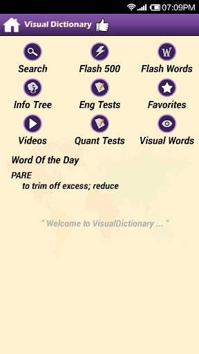Visual Dictionary for GRE