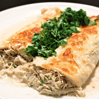 Shredded Chicken and Mayocoba Bean Enchiladas Recipe