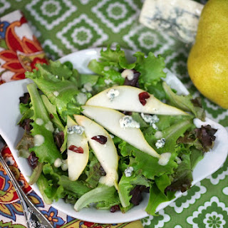 Pear, Walnut and Blue Cheese Salad with Pear Vinaigrette